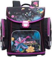 Купить Grizzly Ранец школьный цвет черный RA-676-3, Ранцы и рюкзаки