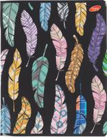 Купить Academy Style Тетрадь Перья 96 листов в клетку цвет черный, Тетради