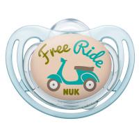 Купить NUK Пустышка силиконовая для сна Freestyle. Мотороллер , от 18 до 36 месяцев, ортодонтическая, Пустышки