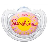 Купить NUK Пустышка силиконовая для сна Freestyle. Солнышко , от 18 до 36 месяцев, ортодонтическая, Пустышки