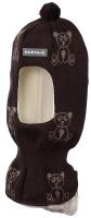 Купить Шапка-шлем детская Huppa Kelda, цвет: черный, бежевый. 85120000-70181. Размер XS (43/45), Одежда для девочек