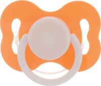 Купить Lubby Соска-пустышка силиконовая с рельефной поверхностью от 3 месяцев цвет оранжевый 4640, Соски