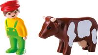 Купить Playmobil Игровой набор Фермер с коровой, Geobra Brandtstatten Gmbh &Co., Игровые наборы