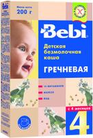 Купить Bebi каша гречневая безмолочная, с 4 месяцев, 200 г, Детское питание