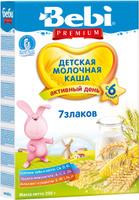 Купить Bebi Премиум каша 7 злаков молочная, с 6 месяцев, 200 г, Детское питание