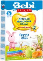Купить Bebi Премиум каша гречневая, курага яблоко молочная, с 5 месяцев, 200 г, Детское питание