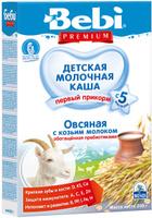 Купить Bebi Премиум каша овсяная с козьим молоком с пребиотиками, с 5 месяцев, 200 г, Детское питание