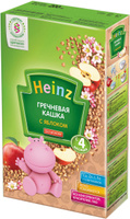 Купить Heinz каша гречневая с яблоком, с 4 месяцев, 200 г, Детское питание