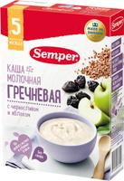 Купить Semper каша гречневая с черносливом и яблоком молочная, с 5 месяцев, 200 г, Детское питание