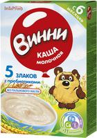 Купить Винни каша 5 злаков с пребиотиками молочная, с 6 месяцев, 220 г, Детское питание