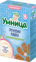 Купить Умница каша гречневая низкоаллергенная, с 4 месяцев, 200 г, Детское питание
