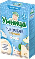 Купить Умница каша гречневая с грушей молочная, с 4 месяцев, 200 г, Детское питание
