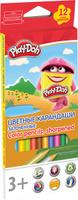 Купить Play-Doh Набор цветных карандашей 12 цветов PDEB-US2-3QP-12, Карандаши