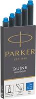Купить Parker Картридж с чернилами Quink Long для перьевой ручки цвет чернил синий 5 шт 1950383, Ручки