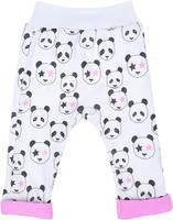 Купить Ползунки для девочки КотМарКот Панда Rock, цвет: светло-бежевый, розовый. 5825. Размер 80, Одежда для новорожденных