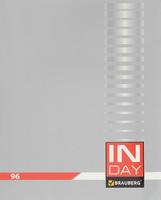 Купить Brauberg Тетрадь In Day 96 листов в клетку цвет серый 400522, Тетради