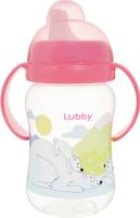 Купить Lubby Поильник-непроливайка Веселые животные от 6 месяцев цвет коралловый 250 мл, Поильники