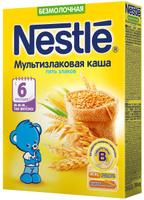 Купить Nestle каша безмолочная мультизлаковая 5 злаков, с 6 месяцев, 200 г, Детское питание