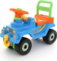 Купить Полесье Автомобиль-каталка Джип 4х4 №2 цвет голубой, Каталки, понициклы