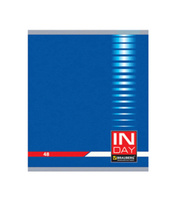 Купить Brauberg Тетрадь In Day 96 листов в клетку цвет синий 400522, Тетради