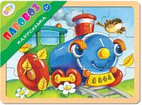 Купить Step Puzzle Пазл для малышей Каруселька Паровоз, Степ Пазл ЗАО (Россия), Обучение и развитие