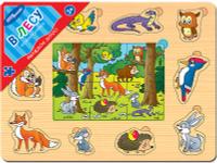 Купить Step Puzzle Пазл для малышей В лесу, Степ Пазл ЗАО (Россия), Обучение и развитие