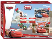 Купить Step Puzzle Развивающий набор 4 в 1 для малышей Тачки, Степ Пазл ЗАО (Россия), Обучение и развитие
