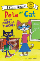 Купить Pete the Cat and the Surprise Teacher, Зарубежная литература для детей