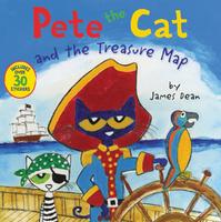 Купить Pete the Cat and the Treasure Map, Зарубежная литература для детей