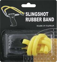 Купить Резинка для рогатки Man Kung , цвет: желтый, 25 см, Рогатки