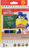 Купить Play-Doh Набор двусторонних фломастеров 12 цветов, Фломастеры