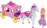 Купить Shantou Gepai Игровой набор с мини-куклой Карета цвет розовый, Shantou Gepai Plastic Industrial Co., Ltd, Куклы и аксессуары