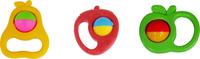 Купить Полесье Набор погремушек Фрукты 3 шт, Первые игрушки