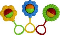 Купить Полесье Набор погремушек Цветочек 3 шт, Первые игрушки