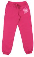 Купить Брюки спортивные для девочки Cherubino, цвет: фуксия. CAJ 7590. Размер 128, Одежда для девочек