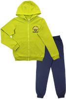 Купить Спортивный костюм для девочки Cherubino, цвет: салатовый, темно-синий. CAJ 9654. Размер 134, Одежда для девочек