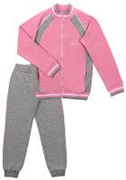 Купить Спортивный костюм для девочки Cherubino, цвет: светло-розовый, серый меланж. CAJ 9655. Размер 134, Одежда для девочек
