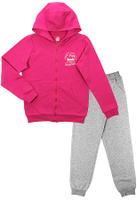 Купить Спортивный костюм для девочки Cherubino, цвет: фуксия, светло-серый меланж. CAJ 9654. Размер 134, Одежда для девочек