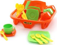 Купить Полесье Набор игрушечной посуды Алиса 40725, Сюжетно-ролевые игрушки