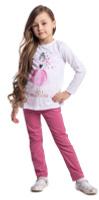 Купить Брюки для девочки PlayToday, цвет: розовый. 372013. Размер 128, Одежда для девочек