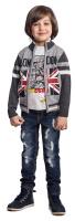 Купить Кофта для мальчика PlayToday, цвет: серый. 371007. Размер 104, Одежда для мальчиков