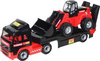 Купить Полесье Трейлер Mammoet Volvo 204-01 и трактор-погрузчик, Машинки