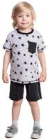 Купить Комплект одежды для мальчика PlayToday: футболка, шорты, цвет: серый, черный. 371040. Размер 128, Одежда для мальчиков