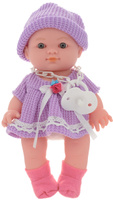 Купить ABtoys Пупс озвученный Мой малыш цвет одежды сиреневый, Куклы и аксессуары