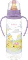 Купить Lubby Бутылочка с латексной соской Веселые животные от 0 месяцев цвет фиолетовый 250 мл, Бутылочки