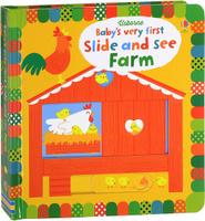 Купить Baby's Very First Slide and See Farm, Книги с вырубкой