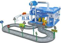 Купить Полесье Паркинг Aral 3-уровневый с дорогой и подъемником, Треки и парковки