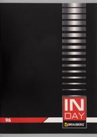 Купить Brauberg Тетрадь In Day 96 листов в клетку цвет черный 400522, Тетради