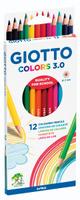 Купить Giotto Набор цветных карандашей Colors 3.0 12 шт, Карандаши