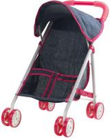 Купить 1Toy коляска прогулочная для куклы Красотка-Джинс цвет серый, Куклы и аксессуары